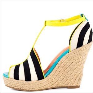 Seychelles CoreyLynn Calter Mod Wedge Sandal Sz 10